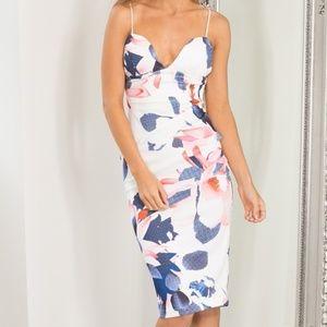Showpo 'Electric Moments' Floral Bodycon Dress